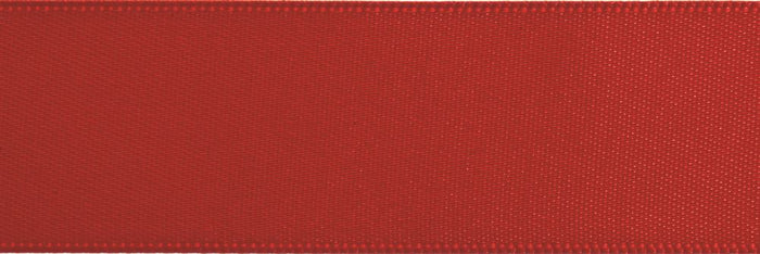 Double-Face Satin: 5m x 12mm: Scarlet