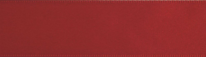 Double-Face Satin: 5m x 12mm: Red