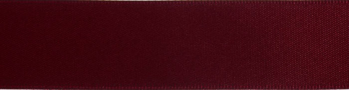 Double-Face Satin: 5m x 12mm: Wine