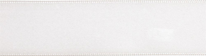 Double-Face Satin: 5m x 24mm: White