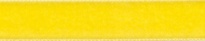 Velvet: 5m x 16mm: Yellow