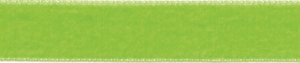 Velvet: 5m x 9mm: Apple Green