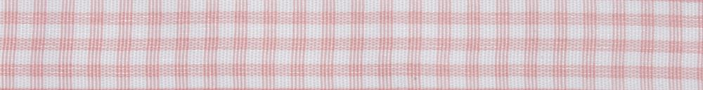 Gingham: 5m x 15mm: Pink