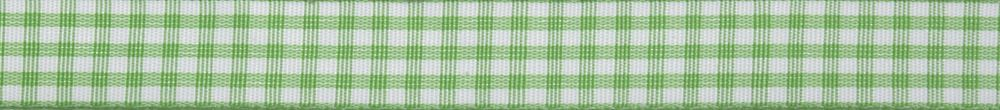 Gingham: 5m x 15mm: Green