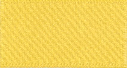Double Faced Satin: 20m x 10mm: Yellow