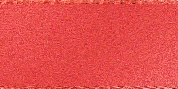 Double Faced Satin: 20m x 5mm: Coral