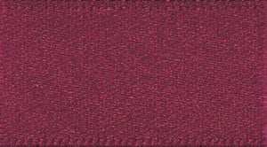 Double Faced Satin: 20m x 5mm: Burgundy
