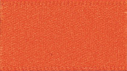Double Faced Satin: 20m x 5mm: Flame