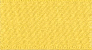 Double Faced Satin: 20m x 7mm: Yellow