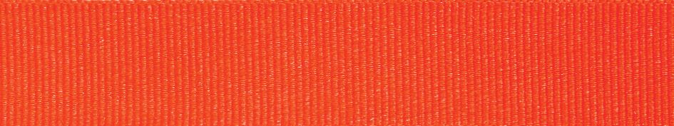 Grosgrain: 20m x 6mm: Fluorescent Orange