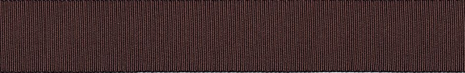 Grosgrain: 20m x 6mm: Chocolate