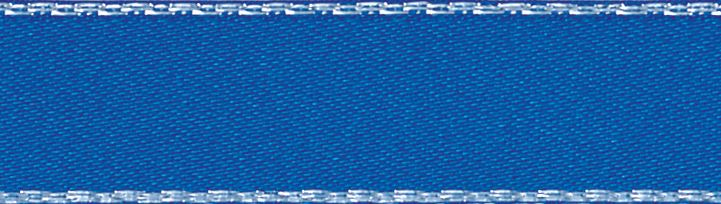 Metallic Edge Satin: Silver: 20m x 3mm: Dark Royal