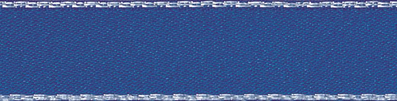 Metallic Edge Satin: Silver: 20m x 7mm: Dark Royal