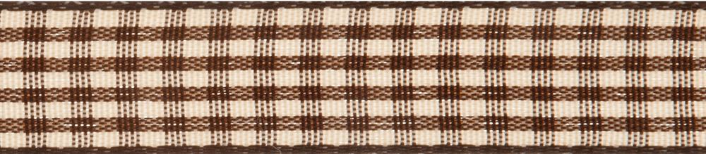 Gingham 2-Colour: 5m x 6mm: Chocolate with Tan