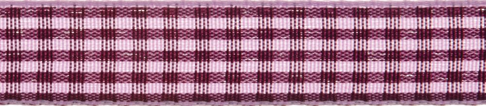 Gingham 2-Colour: 5m x 6mm: Lavender with Plum