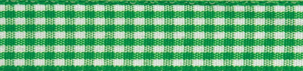Gingham 2-Colour: 5m x 9mm: Lime Green with White