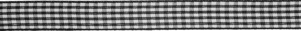 Gingham 2-Colour: 5m x 9mm: Black with White