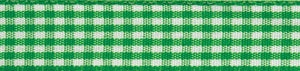 Gingham 2-Colour: 4m x 15mm: Lime Green with White