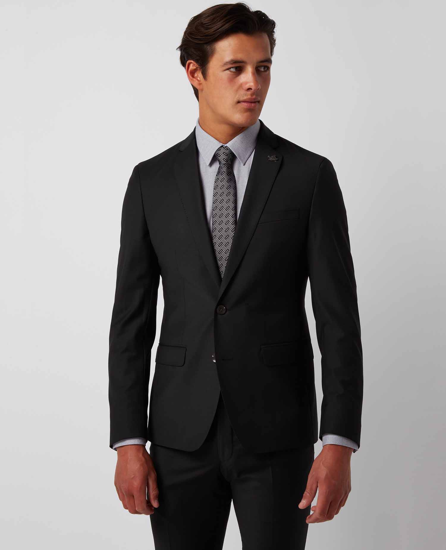Black Extra Slim Two Piece Suit The Henley House