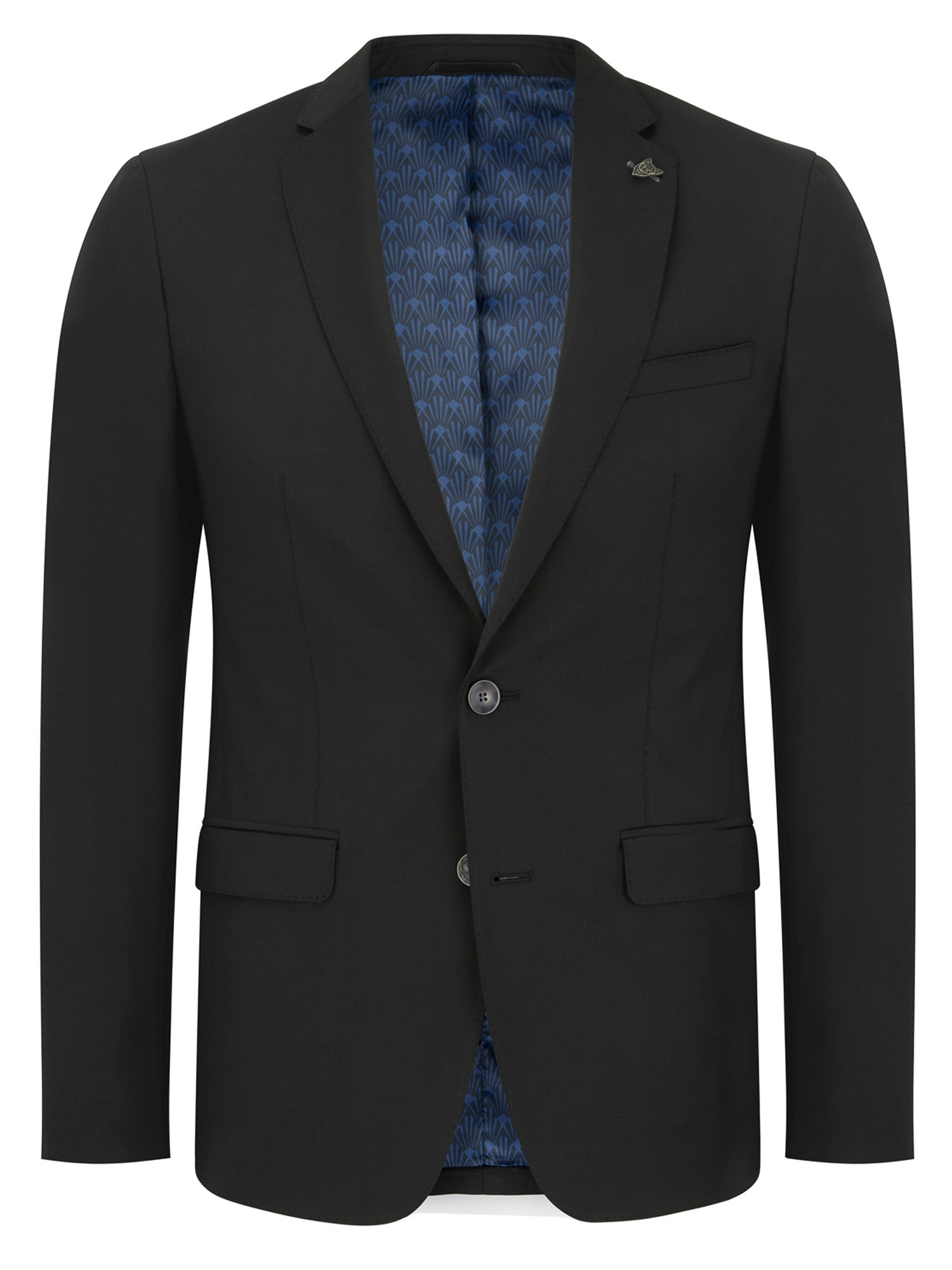 Black Extra Slim Two-Piece Suit