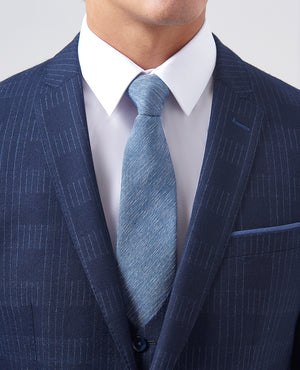 Blue Abstract Three Piece Suit
