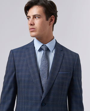 Slim Fit Checked Pure Wool Suit