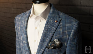 Sky Blue Check Jacket