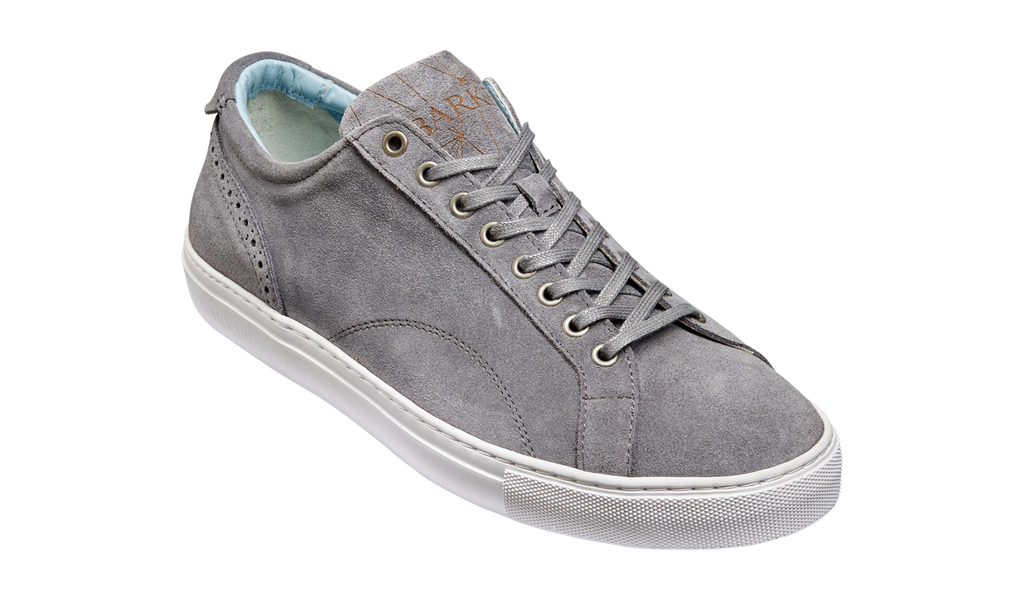 Barker Grey Suede Trainer