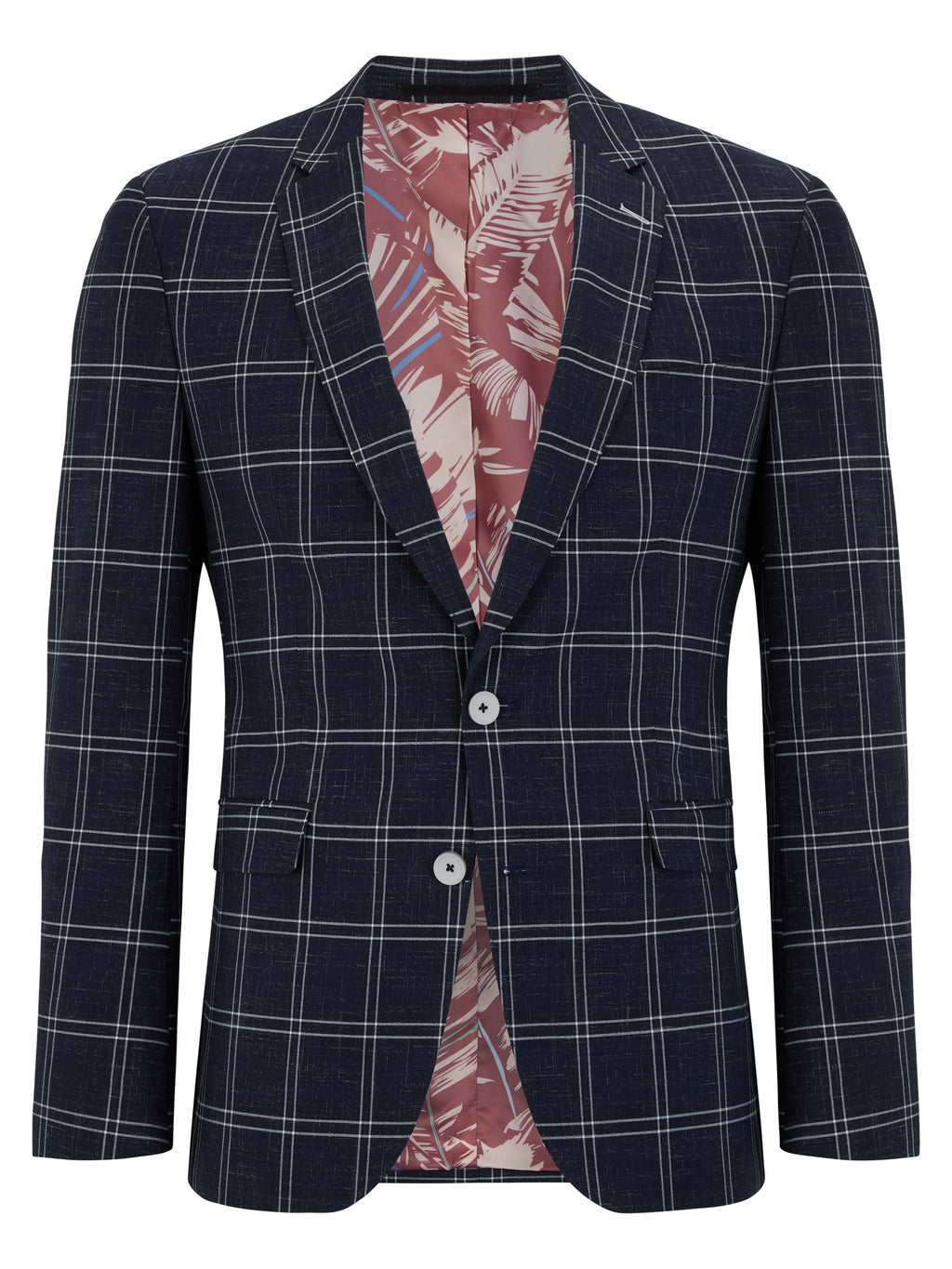 Navy Check Jacket
