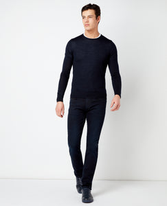 Merino Wool-Blend Crew Neck Sweater
