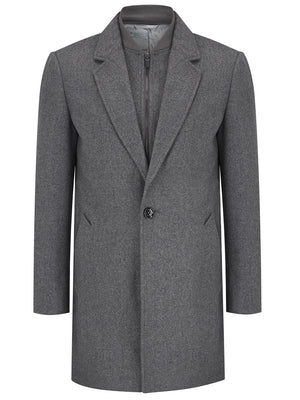 Marl Grey Overcoat
