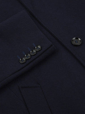 Navy Wool Overcoat