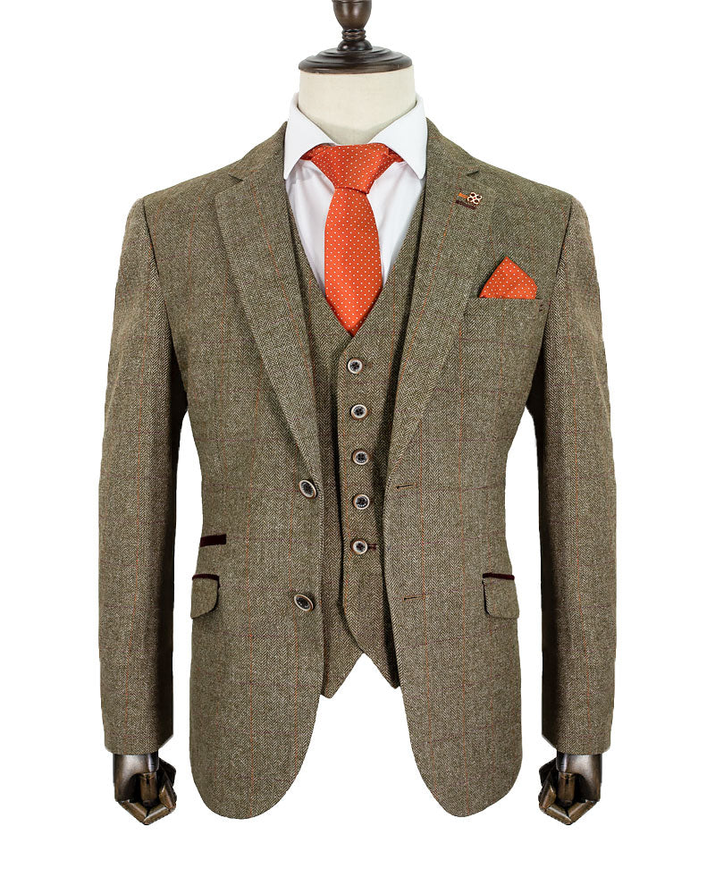 Green Tweed Three piece suit