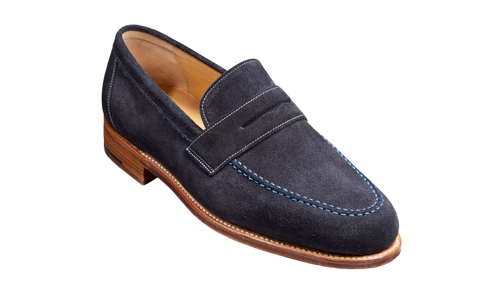 Barker Jevington Loafer - Dark Navy Suede