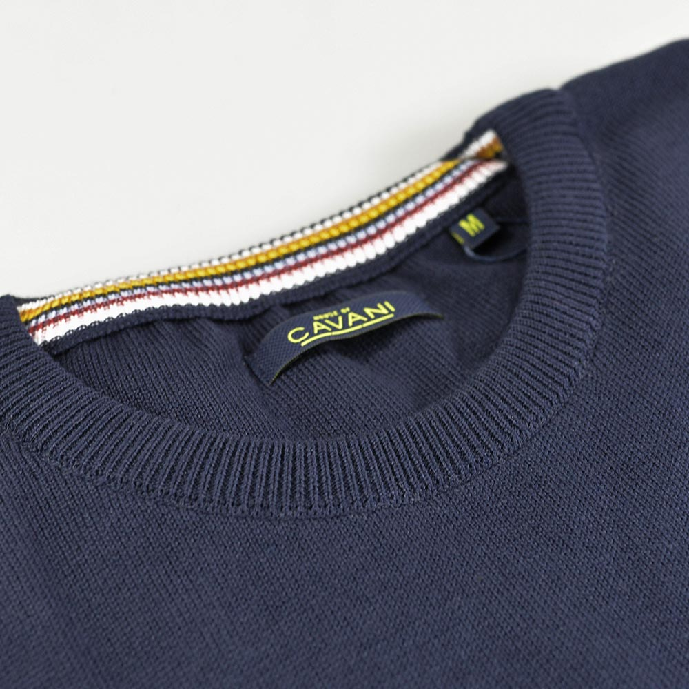 Navy Crewneck Knit