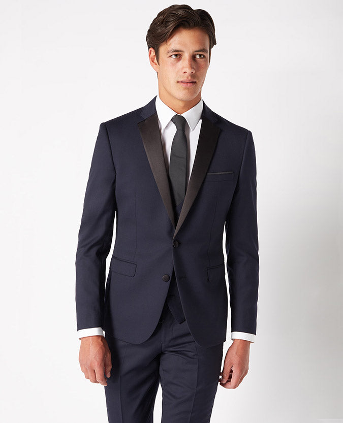 Slim Navy Evening Tuxedo