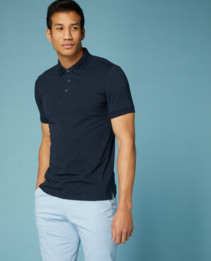 Navy Remus Short Sleeve Polo