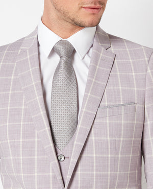 Rose Pink Wool Blend 3Pc Suit