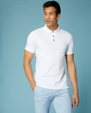 White Remus Short Sleeve Polo