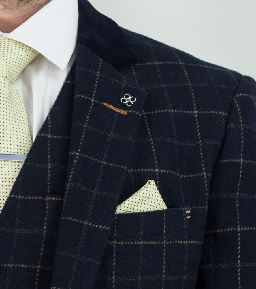 The Shelby Navy Check Suit
