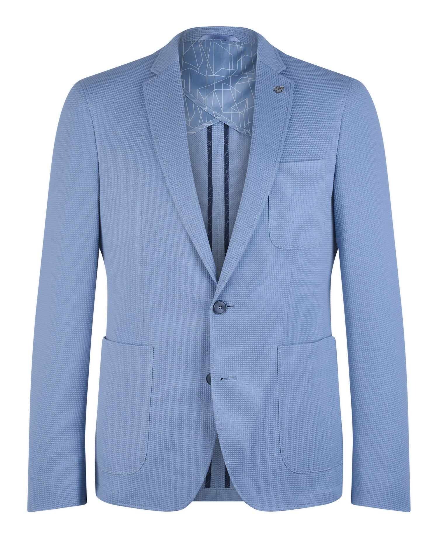 Sky Blue Textured Jacket