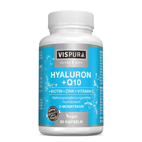 Vispura Acide hyaluronique à fort dosage + coenzyme Q10