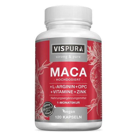 Vispura capsules de maca à fort dosage - 5000mg