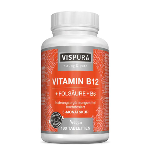 Vispura Vitamine B12 à fort dosage - 1.000 µg