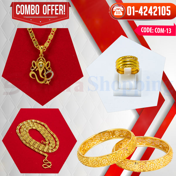 Ganesh Locket and Kangan COMBO OFFER 7 ☎ : 01-4242105 📞 9813782632