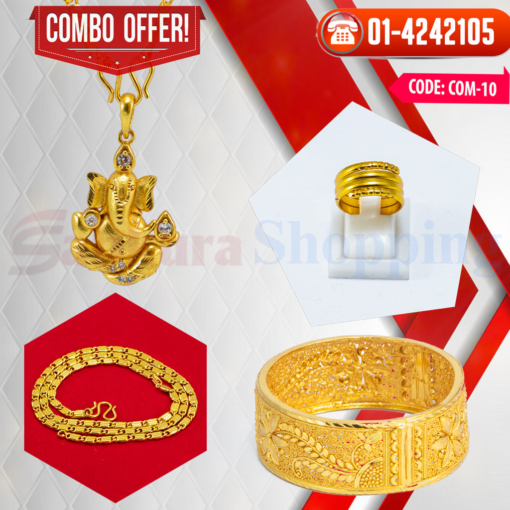Ganesh Locket and Kangan COMBO OFFER 4 ☎ : 01-4242105 📞 9813782632