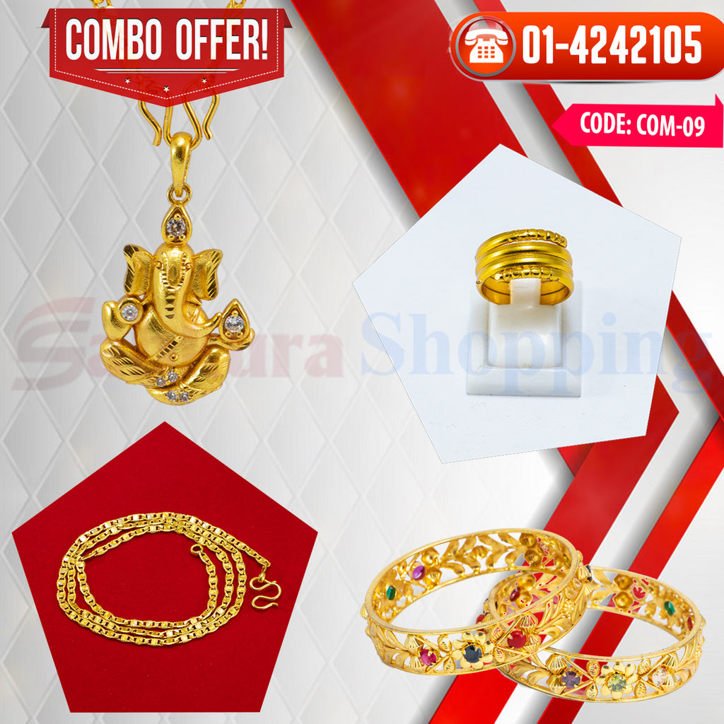 Ganesh Locket and Kangan COMBO OFFER 3 ☎ : 01-4242105 📞 9813782632