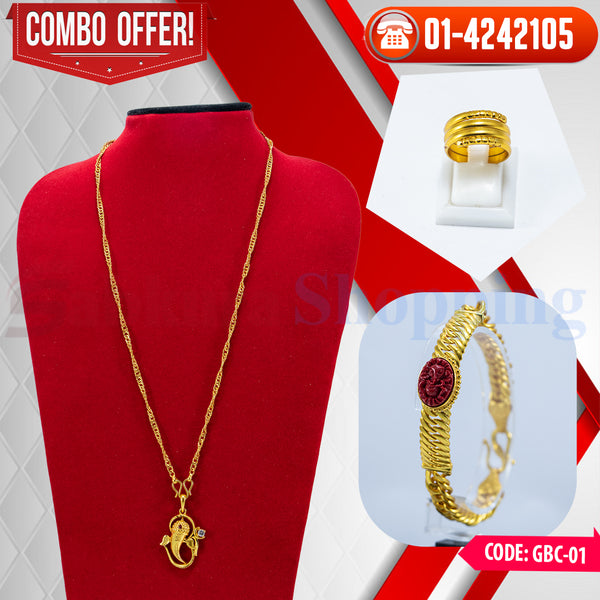 Ganesh Locket Bracelet Ring Combo ☎ : 01-4242105 📞 9813782632