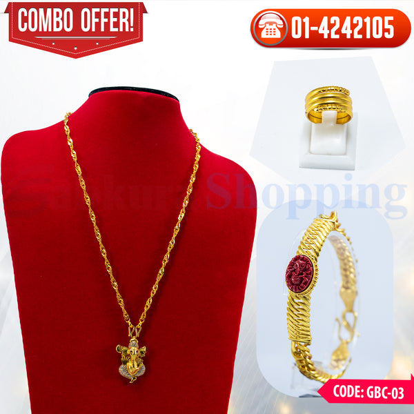 Ganesh locket and Ganesh muga chain Bracelet combo 3 ☎ : 01-4242105 📞 9813782632