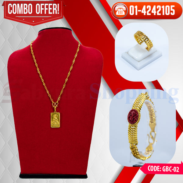 Ganesh Muga Chain Bracelet and Buddha locket COMBO  ☎ : 01-4242105 📞 9813782632